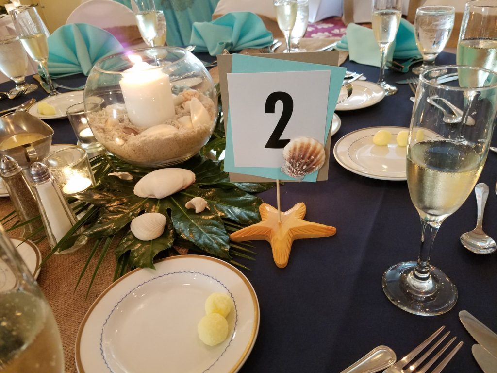 Customizable Beachy Table Number