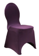 Plum Spandex Chair Cover