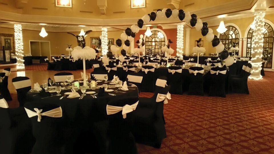 White Sashes and Black Tablecloths